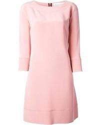 rosa gerade geschnittenes Kleid