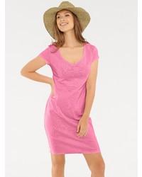 rosa gerade geschnittenes Kleid von B.C. BEST CONNECTIONS by Heine