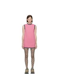 rosa gerade geschnittenes Kleid von Gucci