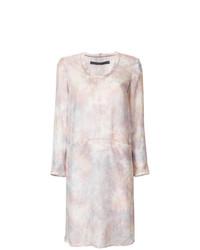 rosa gerade geschnittenes Kleid von Raquel Allegra