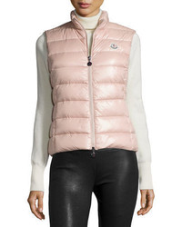 rosa gesteppte ärmellose Jacke