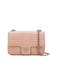 rosa gesteppte Leder Umhängetasche von Prada