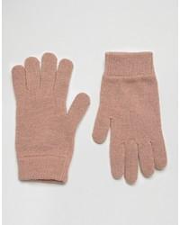 rosa Handschuhe von Asos