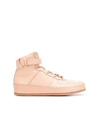 rosa hohe Sneakers aus Leder von Hender Scheme