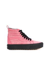 rosa hohe Sneakers aus Segeltuch von Vans