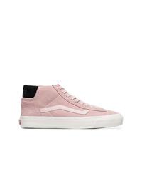 rosa hohe Sneakers aus Wildleder von Vans