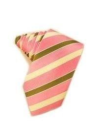 rosa horizontal gestreifte Krawatte