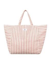 rosa horizontal gestreifte Shopper Tasche aus Segeltuch von Roxy