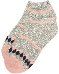 rosa horizontal gestreifte Socken von Madewell