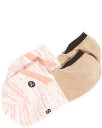 rosa horizontal gestreifte Socken von Stance