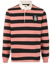 rosa horizontal gestreifter Polo Pullover von Kent & Curwen
