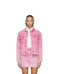 rosa Jeansjacke von MSGM