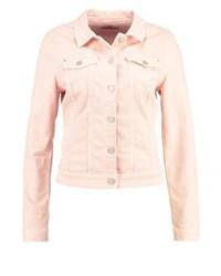 Jeans jacke in rosa
