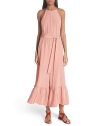 rosa Jumpsuit aus Seide