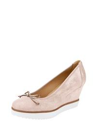 rosa Keilpumps aus Leder von Heine