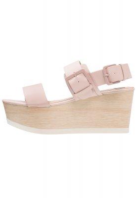rosa Keilsandaletten aus Leder von Mtng