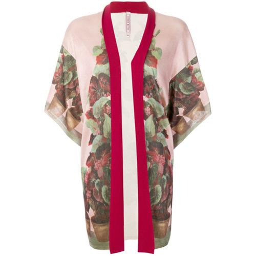 rosa Kimono mit Blumenmuster von Antonio Marras