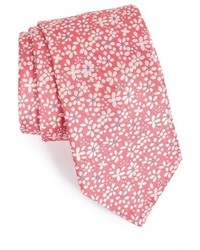 rosa Krawatte mit Blumenmuster