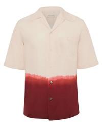 rosa Mit Batikmuster Kurzarmhemd von Alexander McQueen