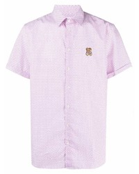 rosa Kurzarmhemd mit geometrischem Muster von Moschino