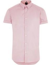 rosa Kurzarmhemd