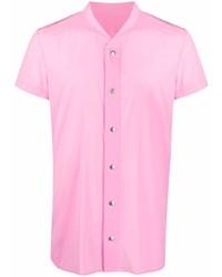 rosa Kurzarmhemd von Rick Owens
