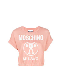 rosa Kurzarmpullover von Moschino