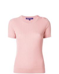 rosa Kurzarmpullover von Ralph Lauren