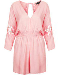rosa kurzer Jumpsuit