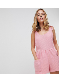 rosa kurzer Jumpsuit von Asos Petite