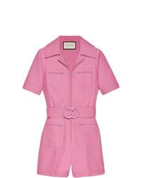 rosa kurzer Jumpsuit von Gucci