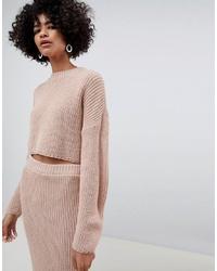 rosa kurzer Pullover von ASOS DESIGN