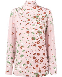 rosa Langarmbluse mit Blumenmuster von Valentino