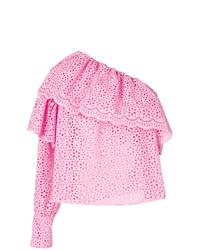 rosa Langarmbluse mit Rüschen von MSGM