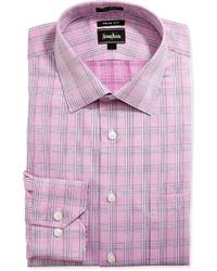 rosa Langarmhemd mit Schottenmuster