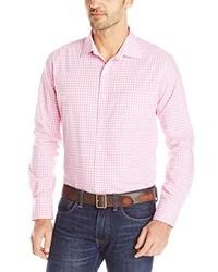 rosa Langarmhemd mit Vichy-Muster