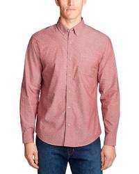 rosa Langarmhemd von Eddie Bauer