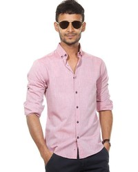 rosa Langarmhemd von FIOCEO