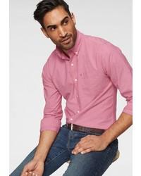 rosa Langarmhemd von Izod