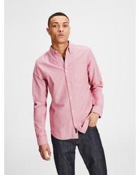 rosa Langarmhemd von Jack & Jones