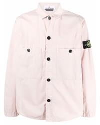 rosa Langarmhemd von Stone Island