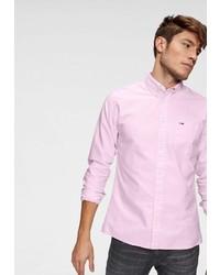 rosa Langarmhemd von Tommy Jeans