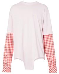 rosa Langarmshirt mit Vichy-Muster von Burberry