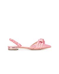 rosa Leder Ballerinas von Casadei