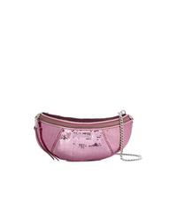 rosa Leder Bauchtasche von Miu Miu