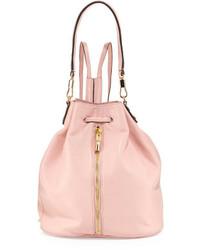 rosa Leder Beuteltasche