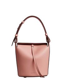 rosa Leder Beuteltasche von Burberry