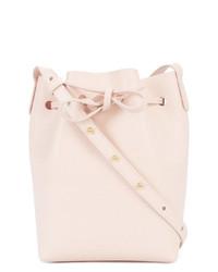 rosa Leder Beuteltasche von Mansur Gavriel
