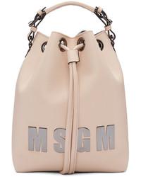 rosa Leder Beuteltasche von MSGM