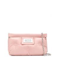 rosa Leder Clutch von Maison Margiela
